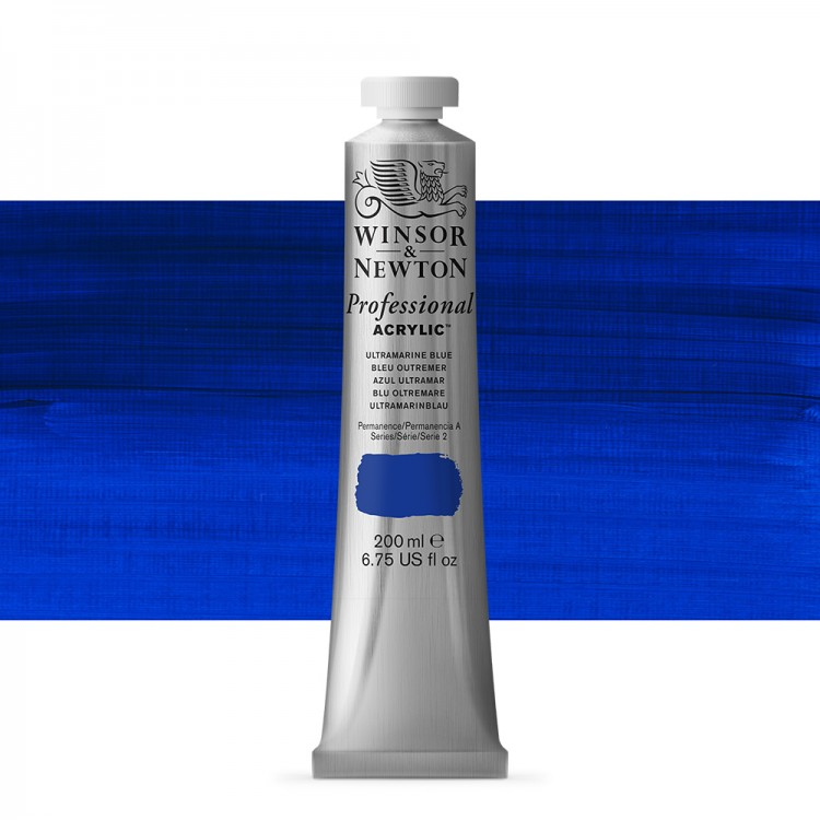 Winsor & Newton : Professional Acrylic Paint : 200ml : Ultramarine Blue
