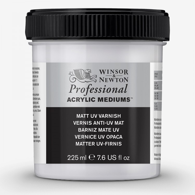 Winsor & Newton : Professional Acrylic : Matt UV Varnish : 225ml