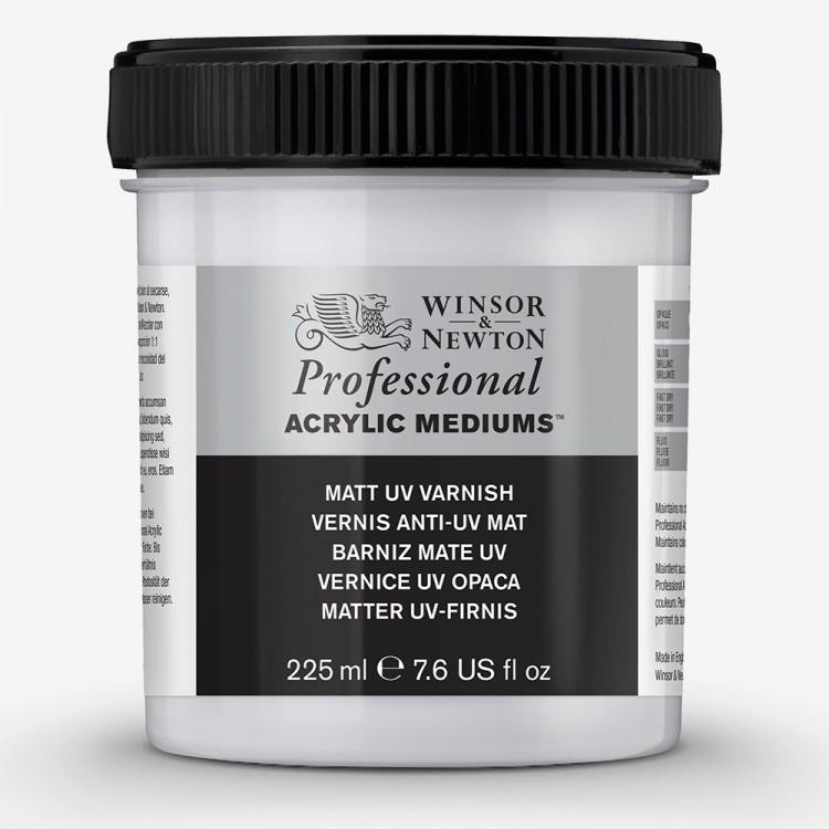 Winsor & Newton : Professional Acrylic : Matt UV Varnish : 225ml