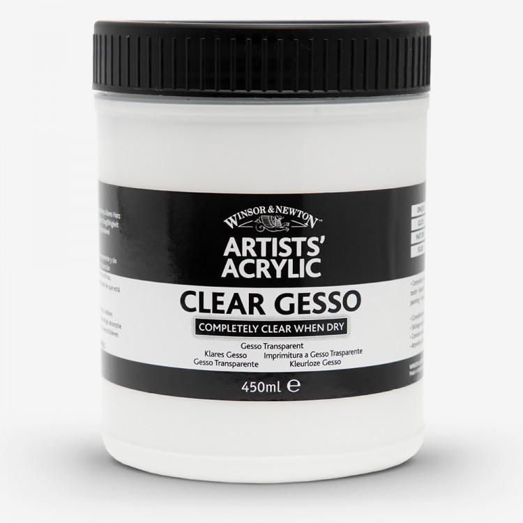 Winsor & Newton : Professional Acrylic : Clear Gesso Primer : 450ml