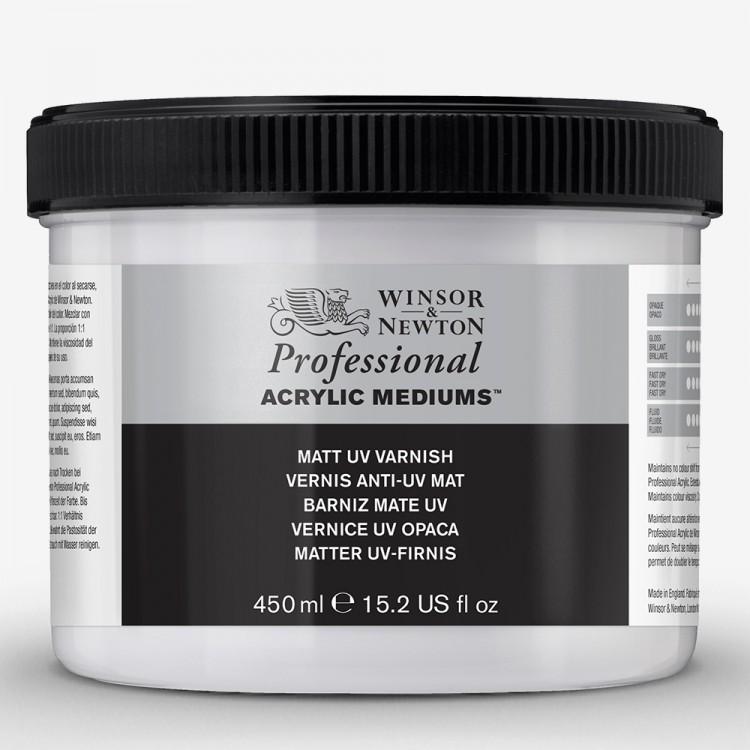 Winsor & Newton : Professional Acrylic : Matt UV Varnish : 450ml