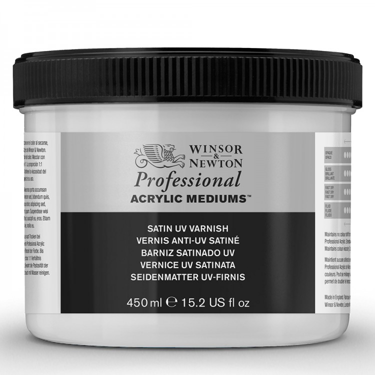 Winsor & Newton : Professional Acrylic : Satin UV Varnish : 450ml