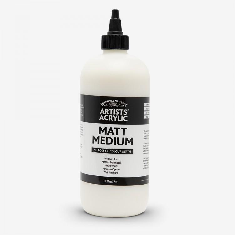 Winsor & Newton : Professional : Acrylic Medium : Matt Medium : 500ml