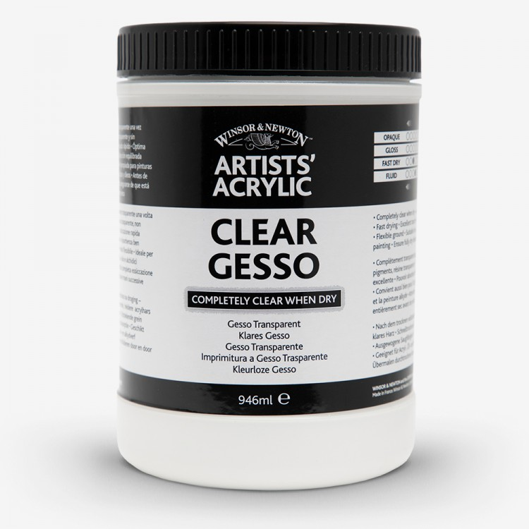 Winsor & Newton : Professional Acrylic : Clear Gesso Primer : 946ml