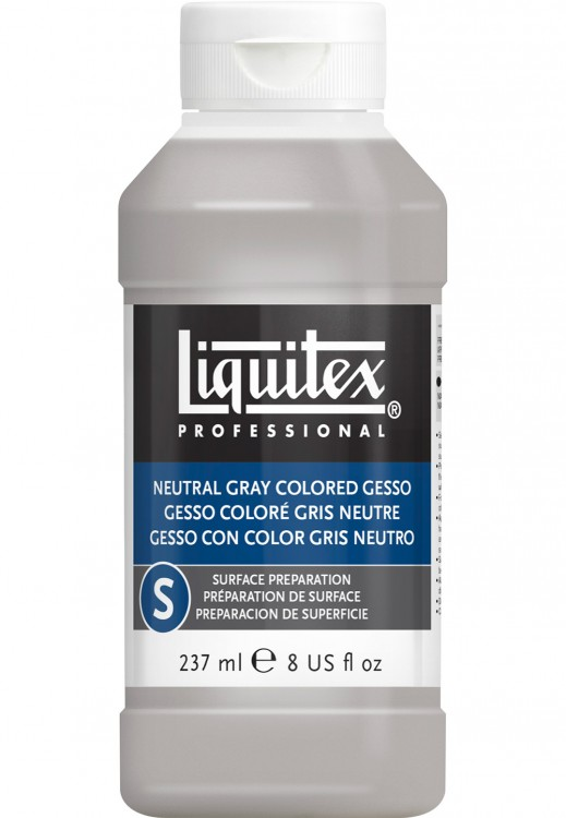 Liquitex : Professional : Coloured Gesso Primer Neutral Grey : 237ml