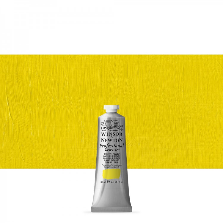 Winsor & Newton : Professional Acrylic Paint : 60ml : Bismuth Yellow