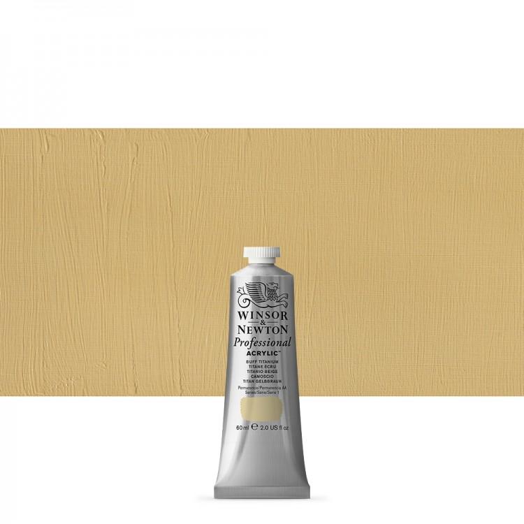 Winsor & Newton : Professional Acrylic Paint : 60ml : Buff Titanium