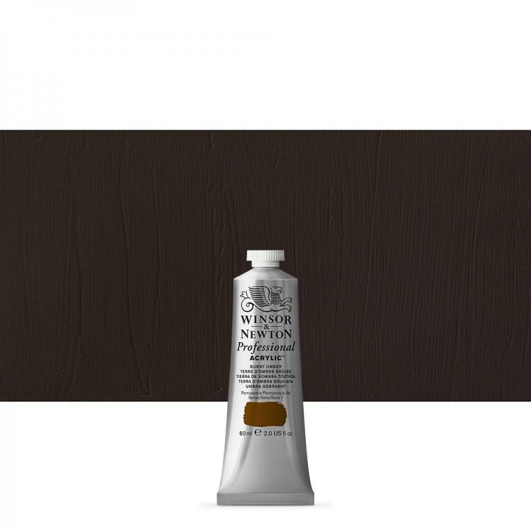 Winsor & Newton : Professional Acrylic Paint : 60ml : Burnt Umber