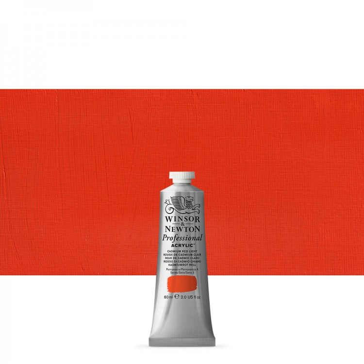 Winsor & Newton : Professional Acrylic Paint : 60ml : Cadmium Red Light