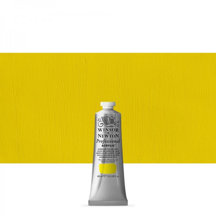 Winsor & Newton : Professional Acrylic Paint : 60ml : Cadmium Yellow Light