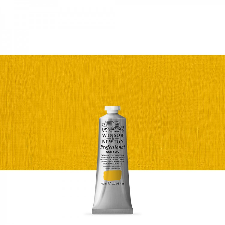 Winsor & Newton : Professional Acrylic Paint : 60ml : Cad Yellow Medium