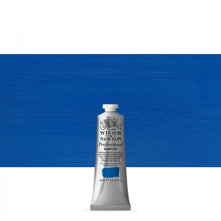 Winsor & Newton : Professional Acrylic Paint : 60ml : Cerulean Blue Chromium