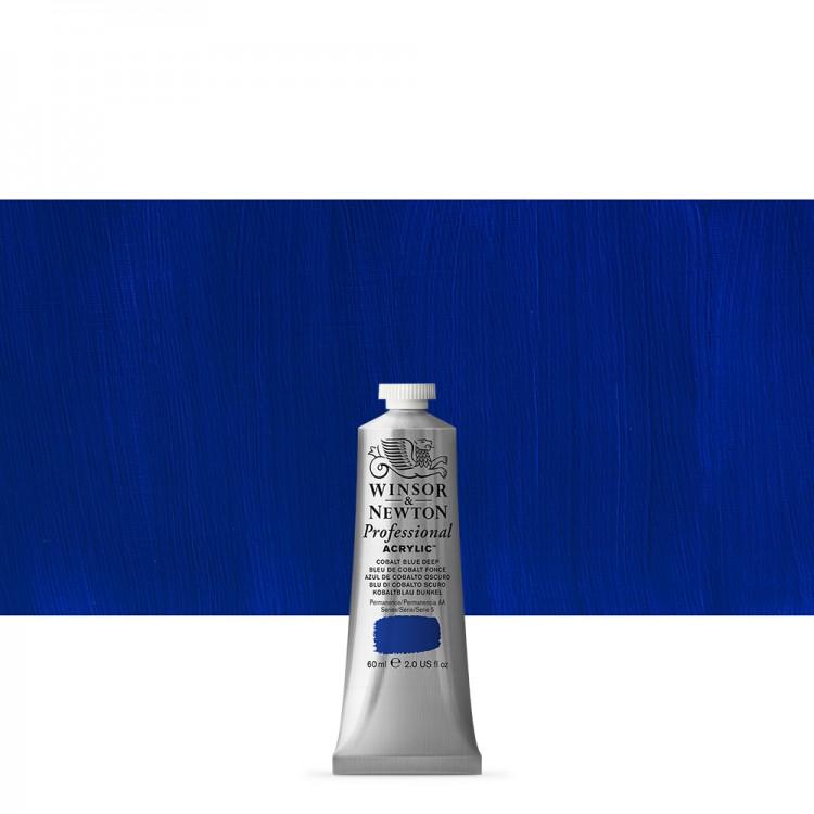 Winsor & Newton : Professional Acrylic Paint : 60ml : Cobalt Blue Deep