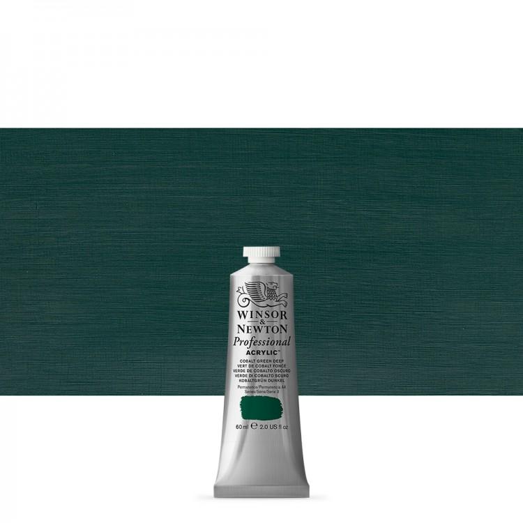 Winsor & Newton : Professional Acrylic Paint : 60ml : Cobalt Green Deep