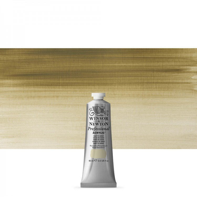 Winsor & Newton : Professional Acrylic Paint : 60ml : Davy's Grey