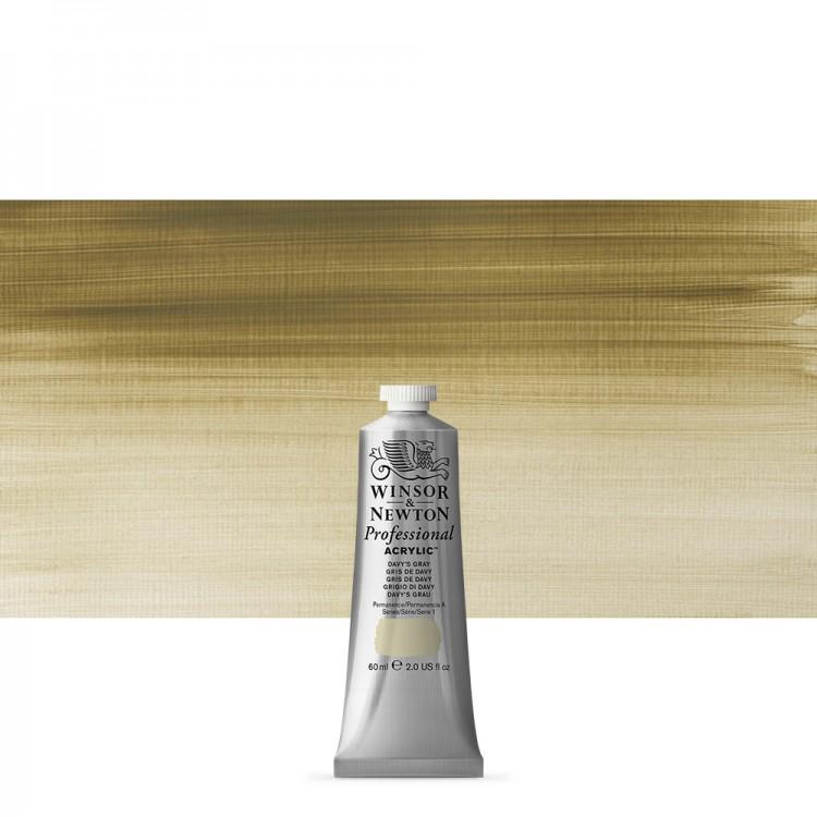 Winsor & Newton : Professional Acrylic Paint : 60ml : Davy's Grey