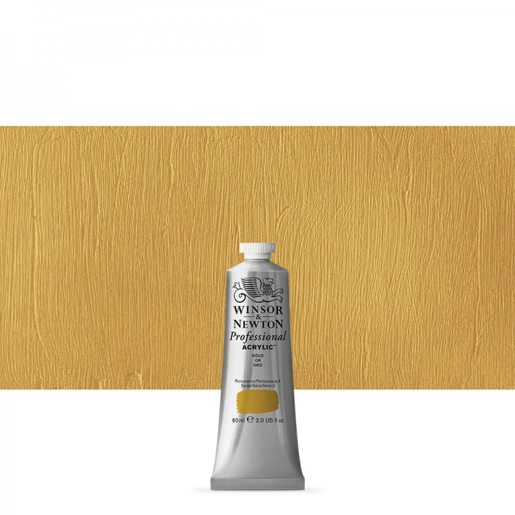 Winsor & Newton : Professional Acrylic Paint : 60ml : Gold