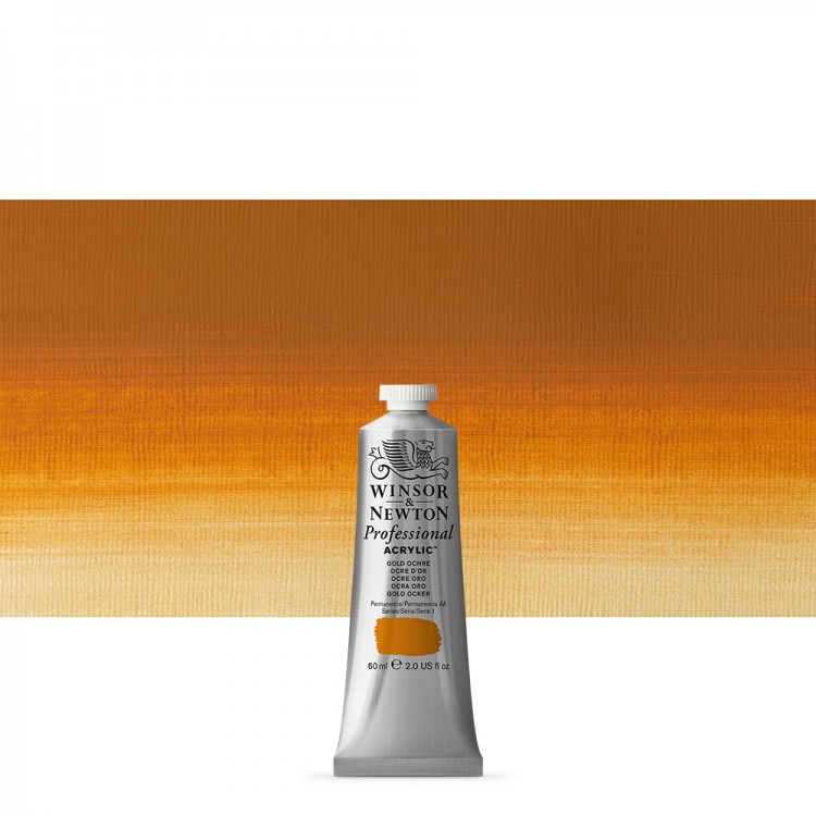 Winsor & Newton : Professional Acrylic Paint : 60ml : Gold Ochre