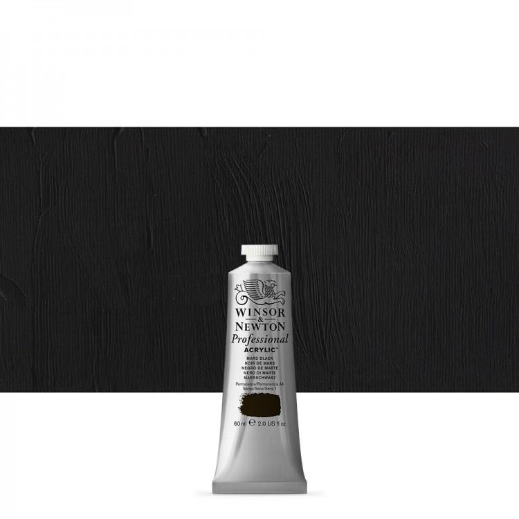 Winsor & Newton : Professional Acrylic Paint : 60ml : Mars Black
