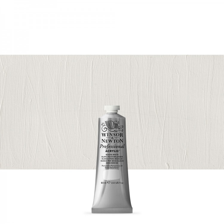 Winsor & Newton : Professional Acrylic Paint : 60ml : Mixing White