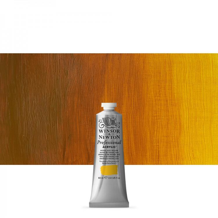 Winsor & Newton : Professional Acrylic Paint : 60ml : Nickel Azo Yellow