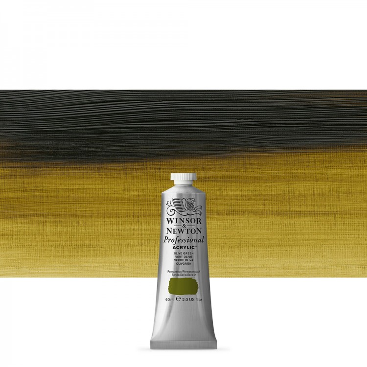 Winsor & Newton : Professional Acrylic Paint : 60ml : Olive Green