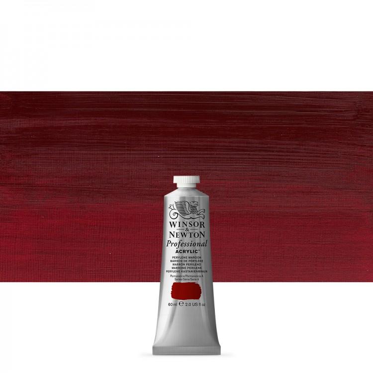Winsor & Newton : Professional Acrylic Paint : 60ml : Perylene Maroon
