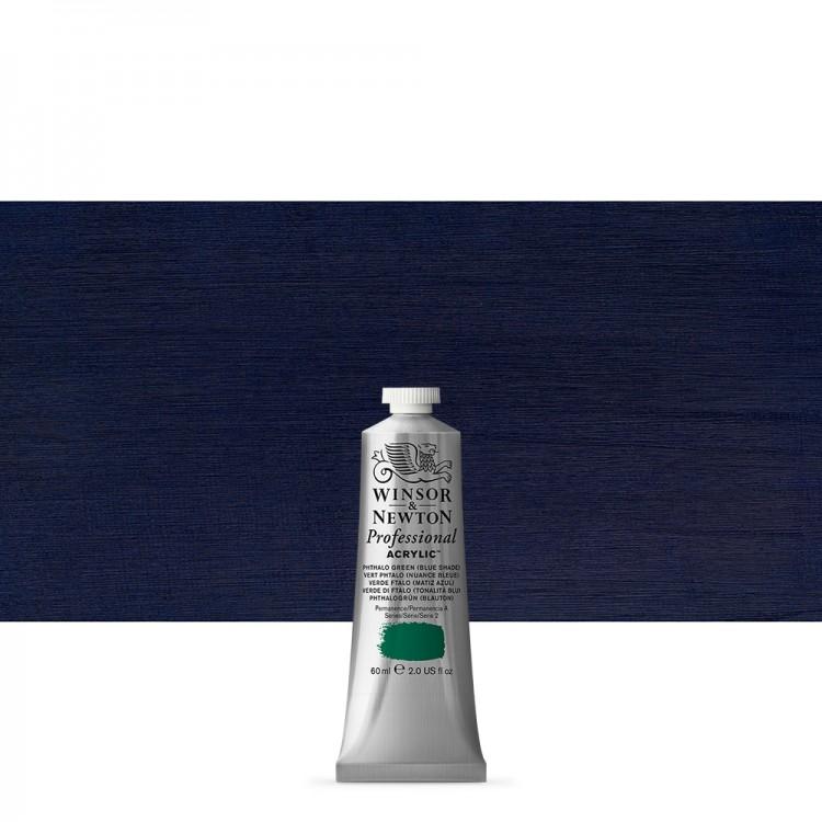 Winsor & Newton : Professional Acrylic Paint : 60ml : Phthalo Blue Green Shade