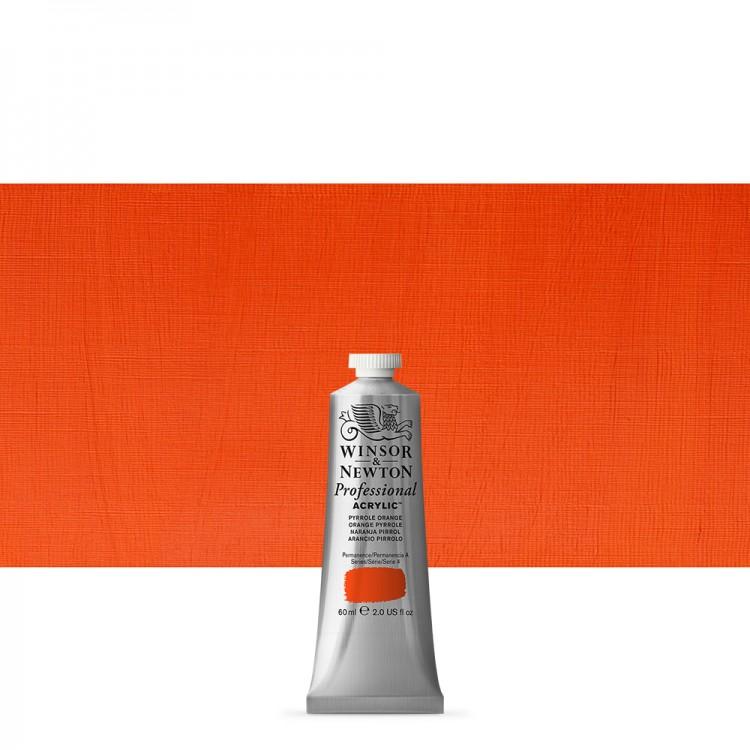 Winsor & Newton : Professional Acrylic Paint : 60ml : Pyrrole Orange