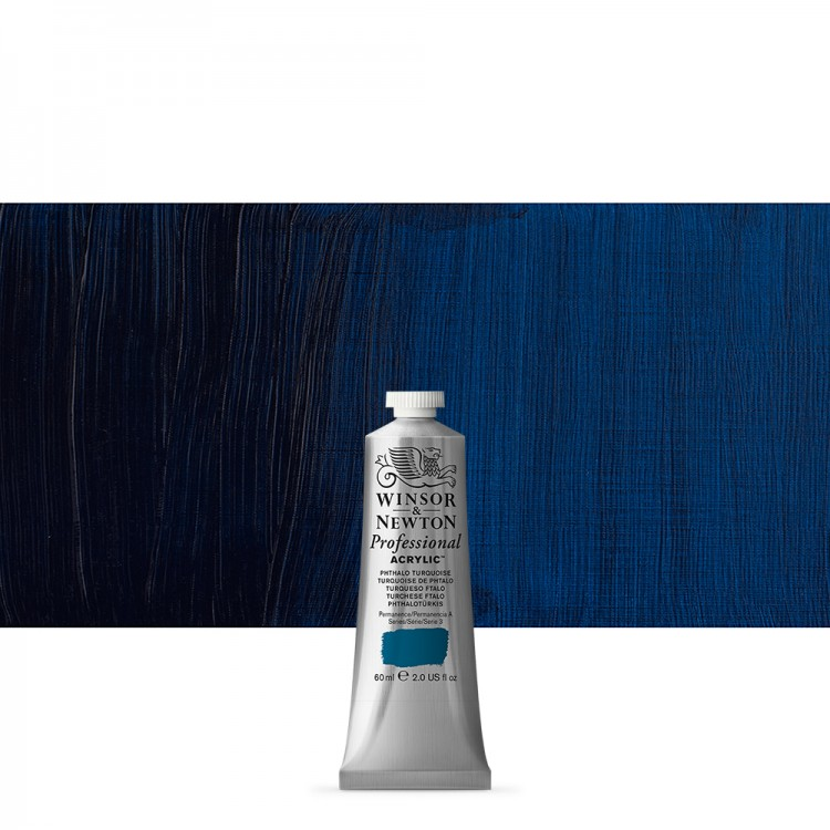 Winsor & Newton : Professional Acrylic Paint : 60ml : Phthalo Turquoise
