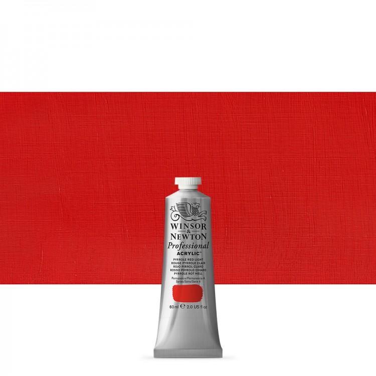Winsor & Newton : Professional Acrylic Paint : 60ml : Pyrrole Red Light
