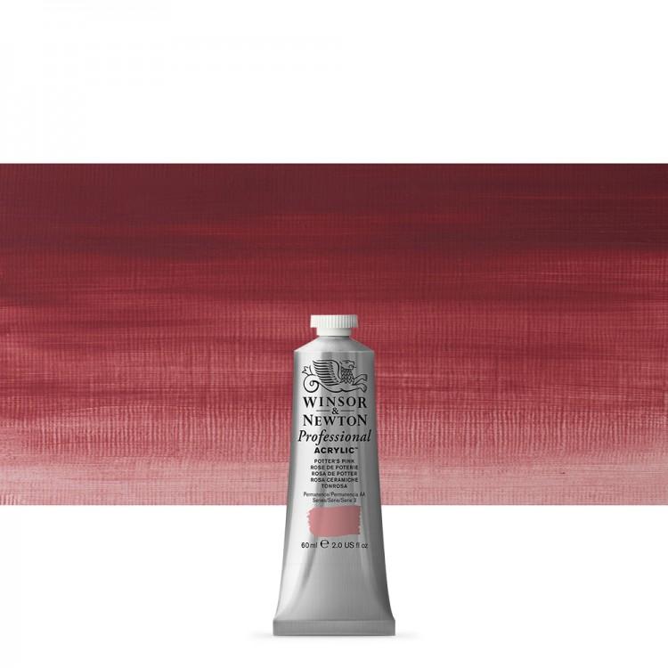 Winsor & Newton : Professional Acrylic Paint : 60ml : Potters Pink