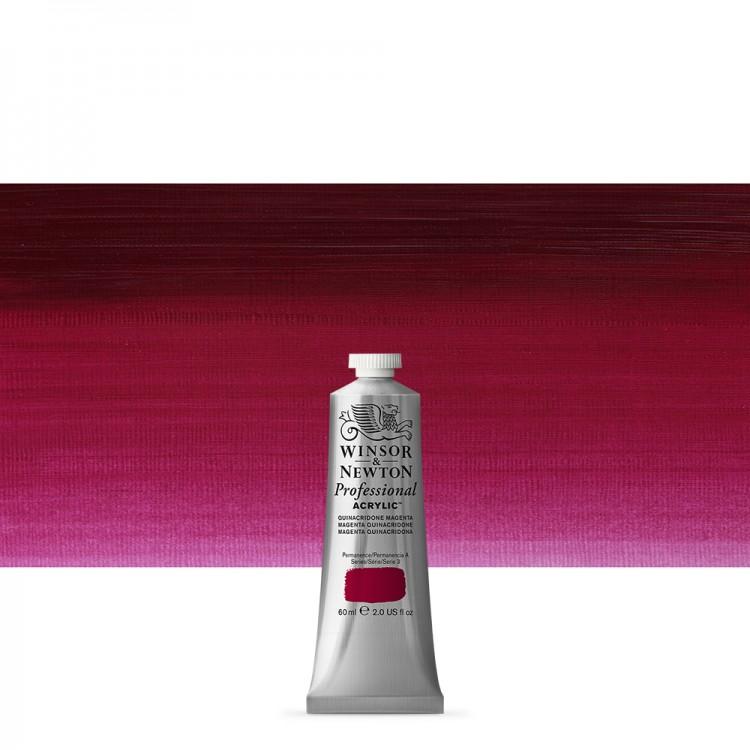 Winsor & Newton : Professional Acrylic Paint : 60ml : Quinacridone Magenta