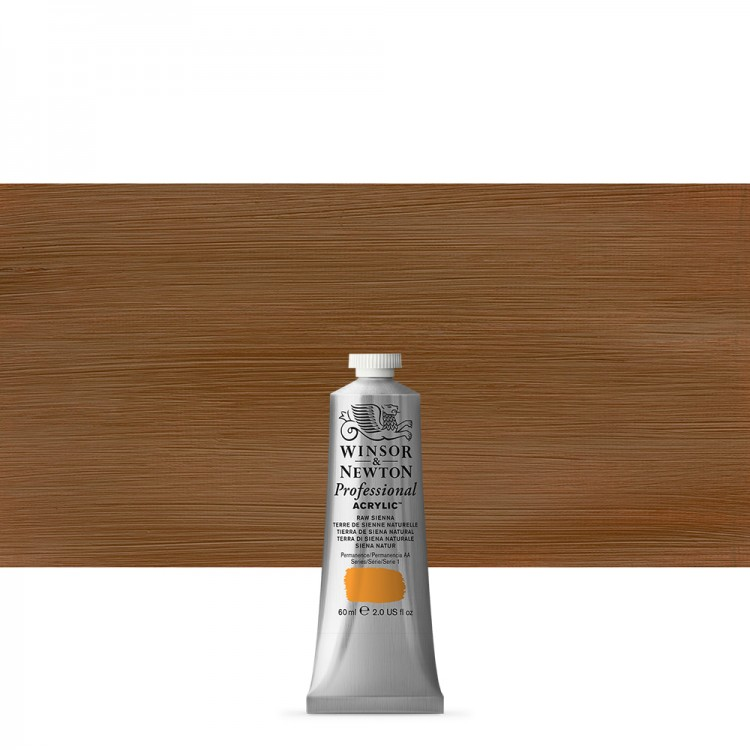 Winsor & Newton : Professional Acrylic Paint : 60ml : Raw Sienna