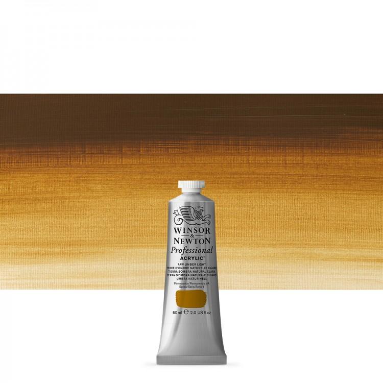 Winsor & Newton : Professional Acrylic Paint : 60ml : Raw Umber Light