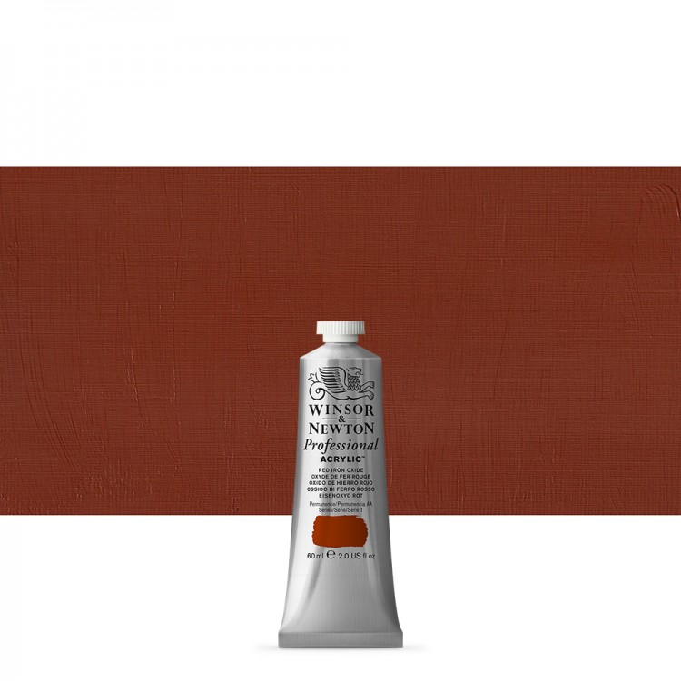 Winsor & Newton : Professional : Acrylic Paint : 60ml : Red Iron Oxide