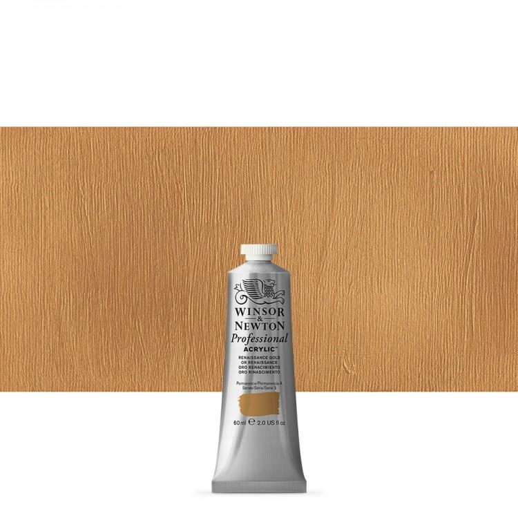 Winsor & Newton : Professional Acrylic Paint : 60ml : Renaissance Gold