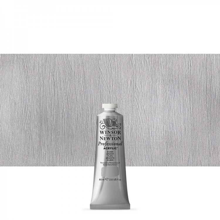 Winsor & Newton : Professional Acrylic Paint : 60ml : Silver