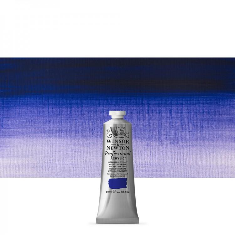 Winsor & Newton : Professional Acrylic Paint : 60ml : Ultramarine Violet