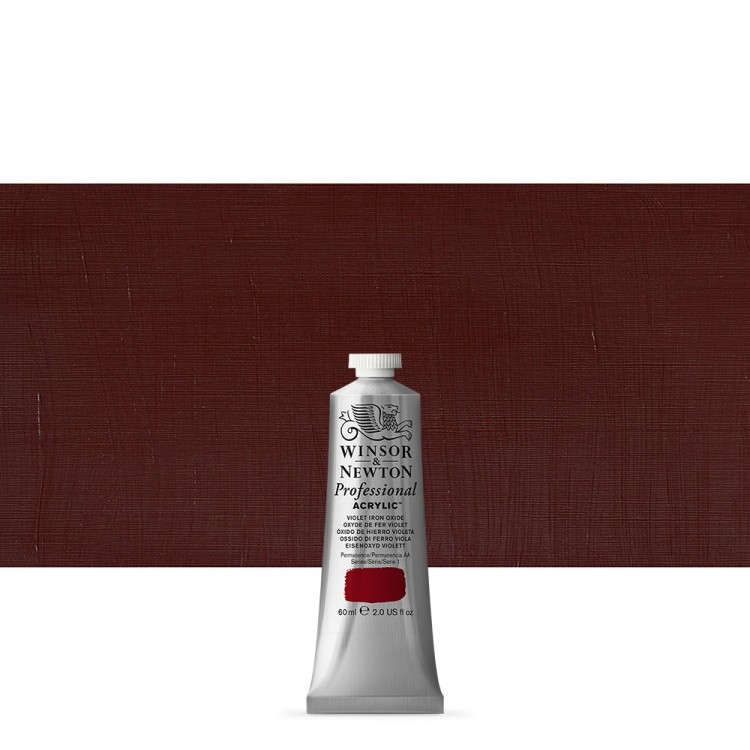 Winsor & Newton : Professional Acrylic Paint : 60ml : Violet Iron Oxide