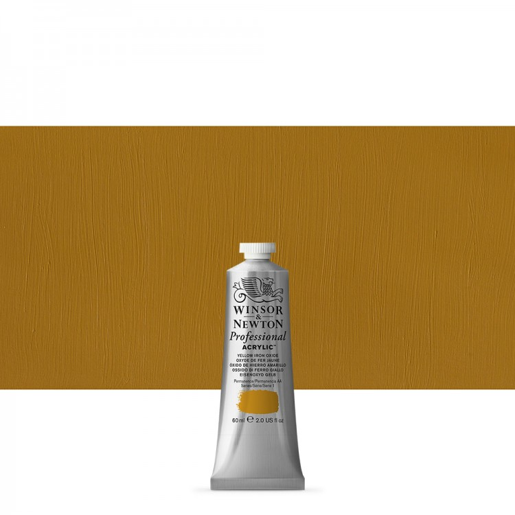 Winsor & Newton : Professional Acrylic Paint : 60ml : Yellow Iron Oxide