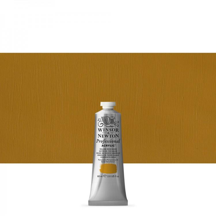 Winsor & Newton : Professional Acrylic Paint : 60ml : Yellow Iron Oxide