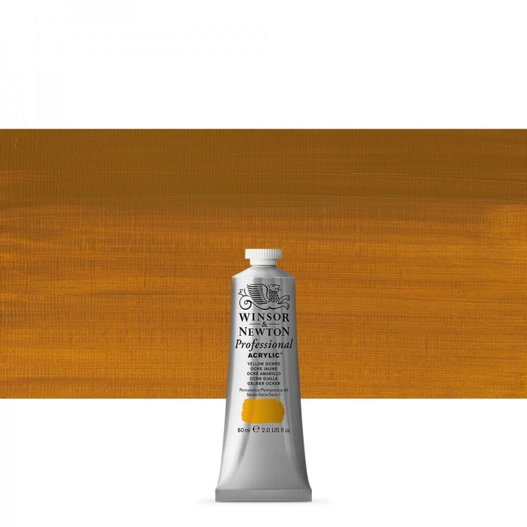 Winsor & Newton : Professional Acrylic Paint : 60ml : Yellow Ochre