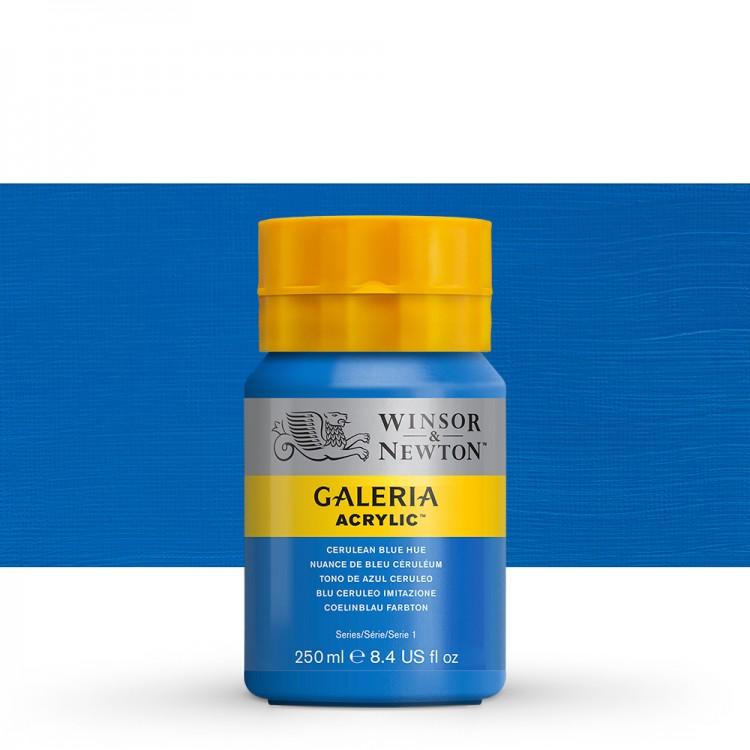 W&N : Galeria : Acrylic Paint : 250ml : Cerulean Blue Hue