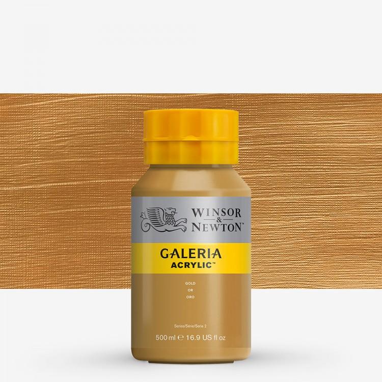 W&N : Galeria : Acrylic Paint : 500ml : Metallic Gold