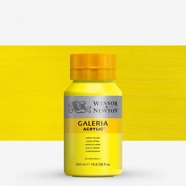 W&N : Galeria : Acrylic Paint : 500ml : Lemon Yellow