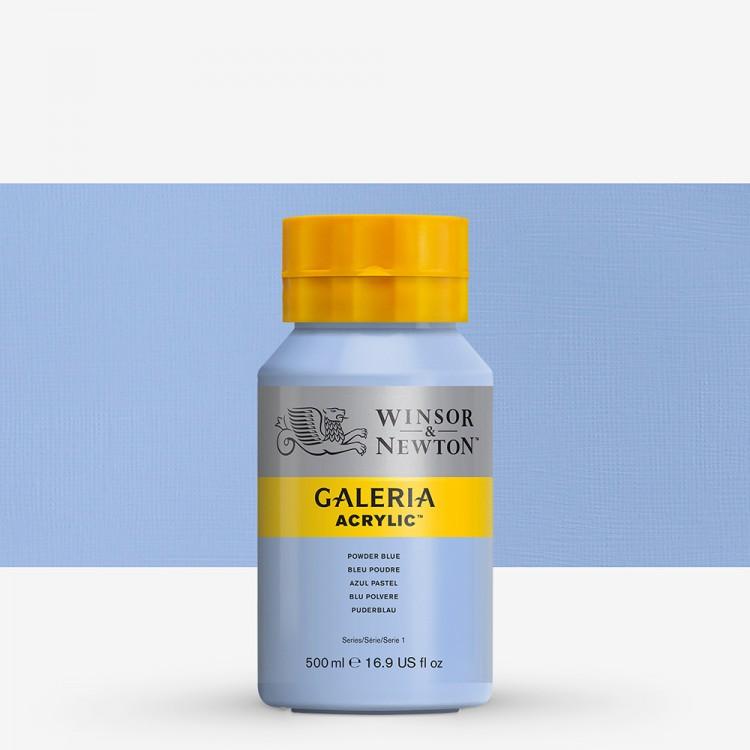 Winsor & Newton : Galeria : Acrylic Paint : 500ml : Powder Blue