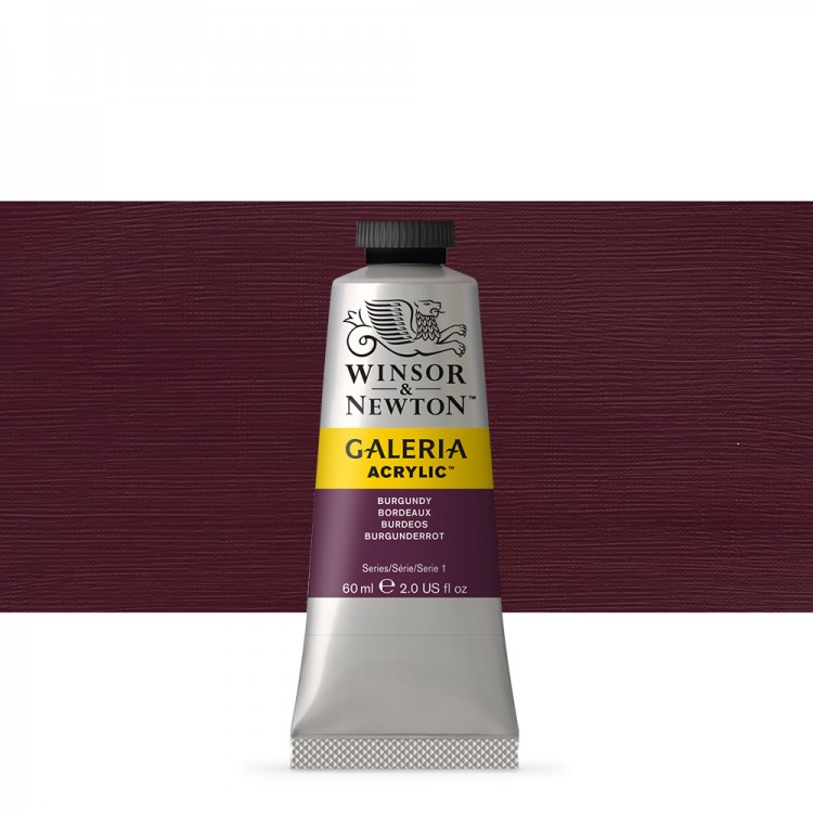 W&N : Galeria : Acrylic Paint : 60ml : Burgundy