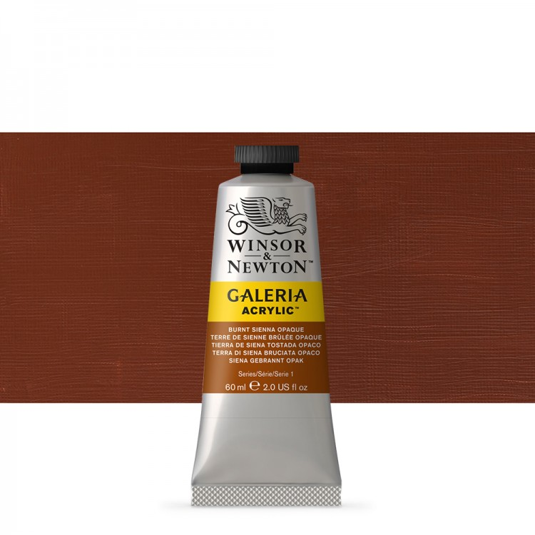 W&N : Galeria : Acrylic Paint : 60ml : Burnt Sienna Opaque