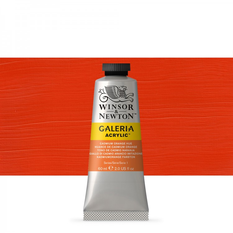 W&N : Galeria : Acrylic Paint : 60ml : Cadmium Orange Hue